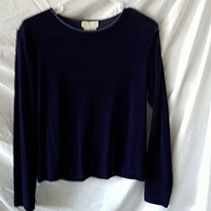 One small velour ladies pullover